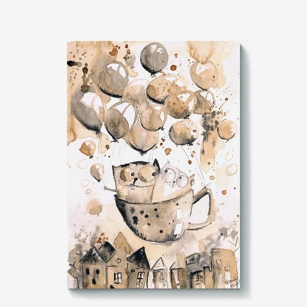 Холст «Кофейная любовь»