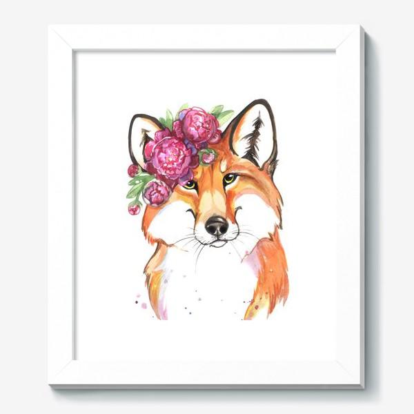 Картина «лиса в пионах»