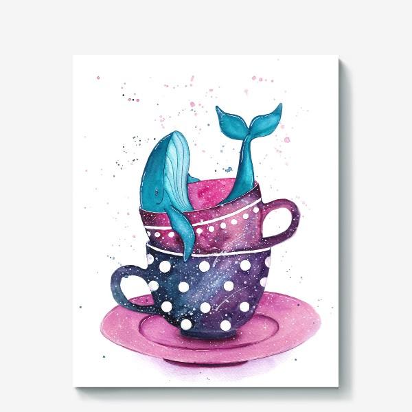 Холст «Кит в чашке»