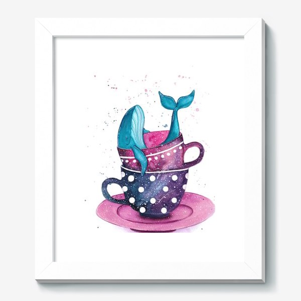 Картина «Кит в чашке»
