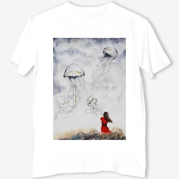 Футболка «Девушка и медузы»