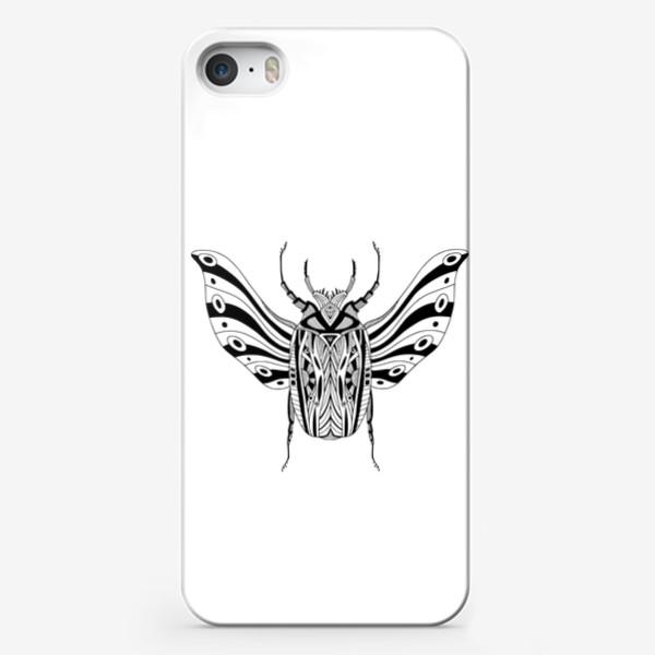 Чехол iPhone «Богемный жук. Скарабей»