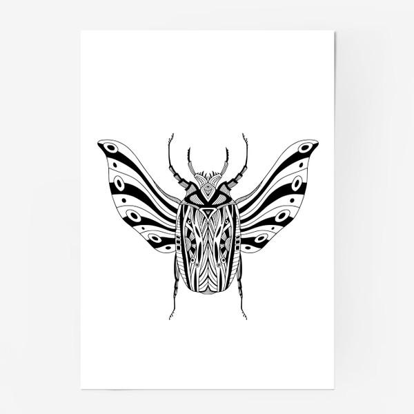 Постер «Богемный жук. Скарабей»