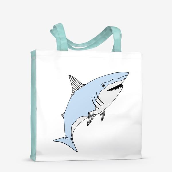 Сумка-шоппер «Весёлая акула»