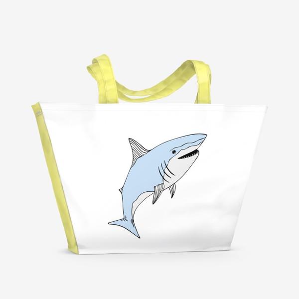 Пляжная сумка «Весёлая акула»