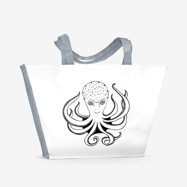 Пляжная сумка «Счастливый Осьминог»