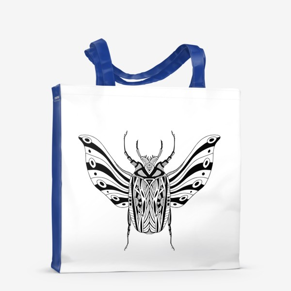 Сумка-шоппер «Богемный жук. Скарабей»