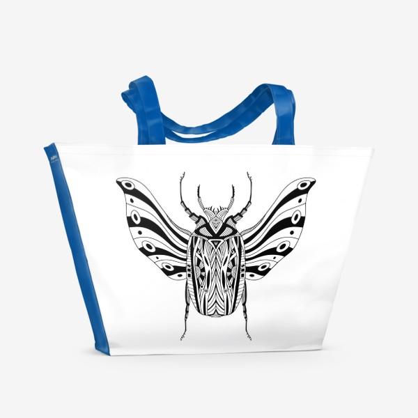 Пляжная сумка «Богемный жук. Скарабей»