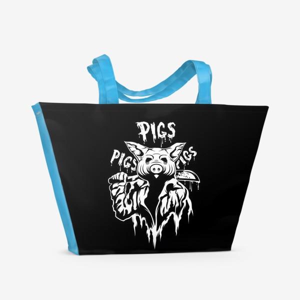 Пляжная сумка ««Horror» black»