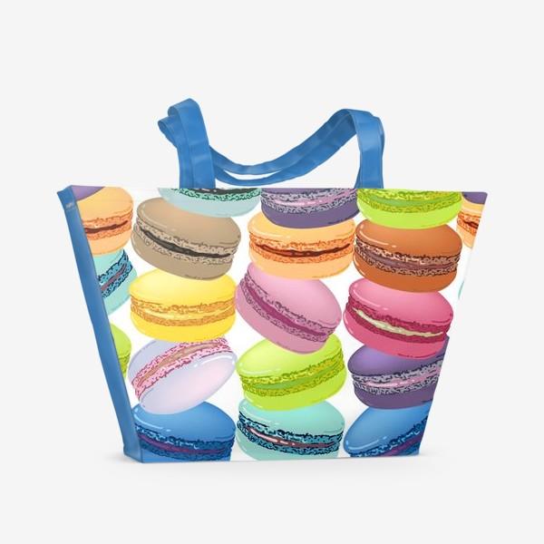 Пляжная сумка «Паттерн из макарунов»