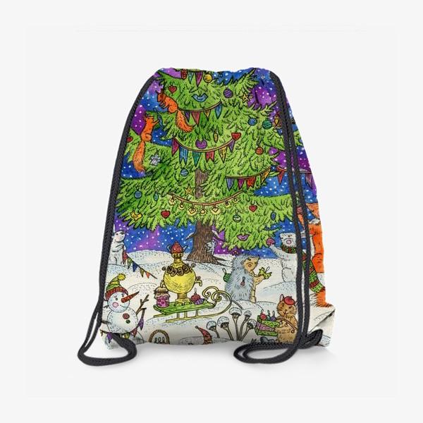 Рюкзак «Новый год в сказочном лесу»