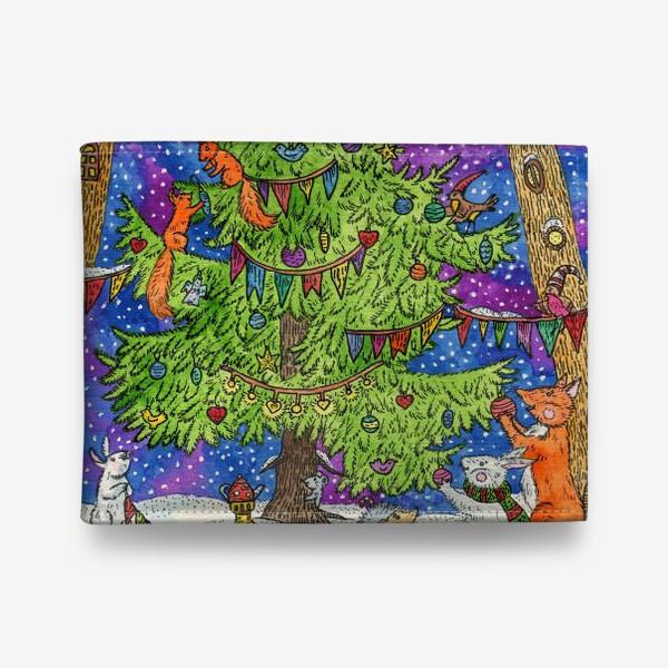 Кошелек «Новый год в сказочном лесу»