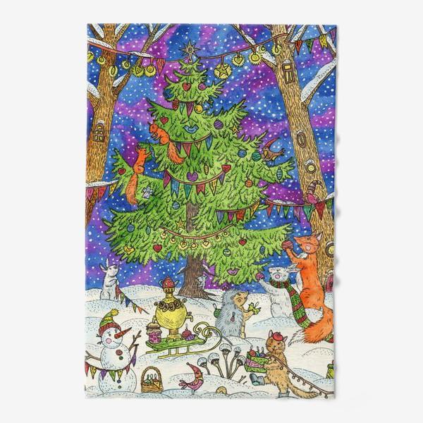 Полотенце «Новый год в сказочном лесу»