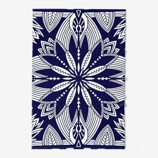 Полотенце «Орнамент с абстрактными листьями. Квадратный узор. Мандала»