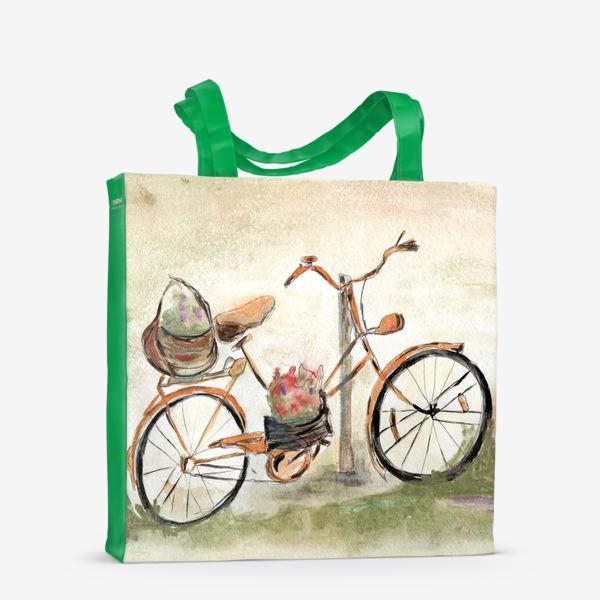 Сумка-шоппер «Велосипед. Лето. Счастье быть собой.»