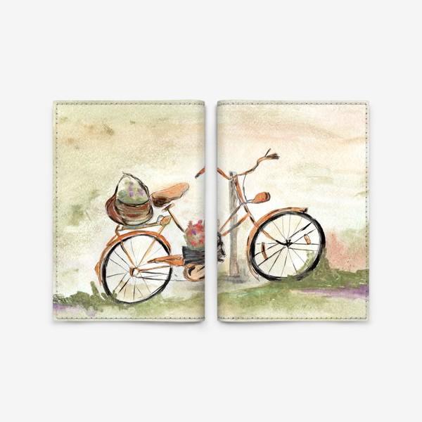 Обложка для паспорта «Велосипед. Лето. Счастье быть собой.»