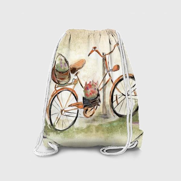 Рюкзак «Велосипед. Лето. Счастье быть собой.»