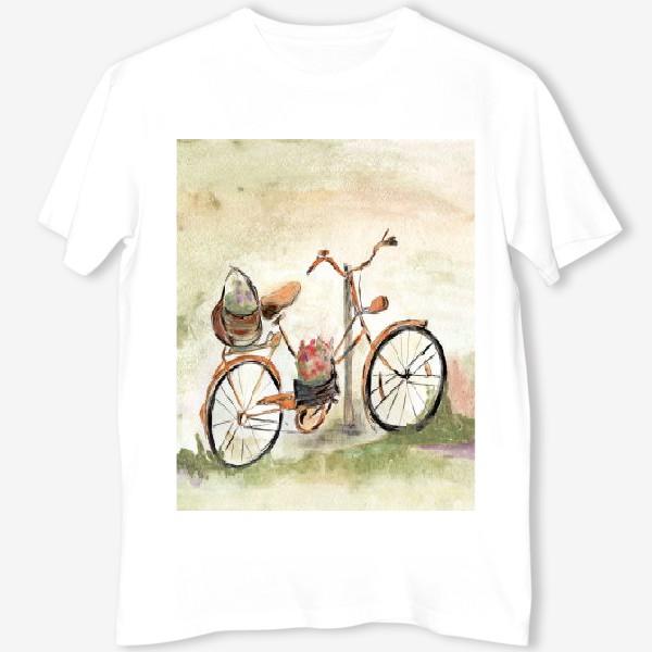 Футболка «Велосипед. Лето. Счастье быть собой.»