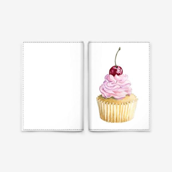Обложка для паспорта «Капкейк с вишенкой»