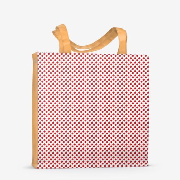 Сумка-шоппер «Паттерн мелкие яблочки - ранетки»