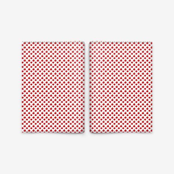 Обложка для паспорта «Паттерн мелкие яблочки - ранетки»