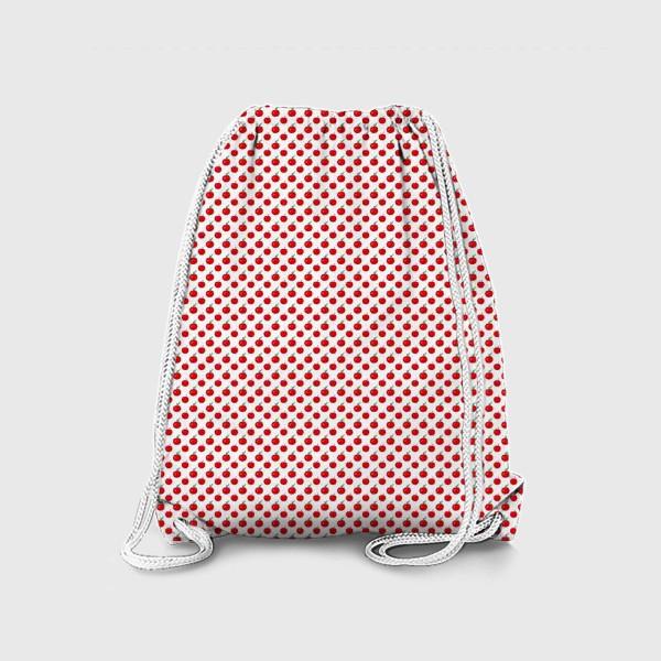 Рюкзак «Паттерн мелкие яблочки - ранетки»