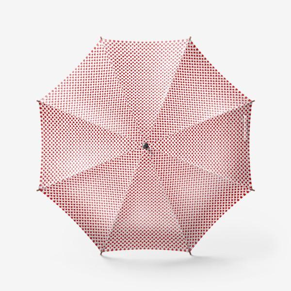 Зонт «Паттерн мелкие яблочки - ранетки»