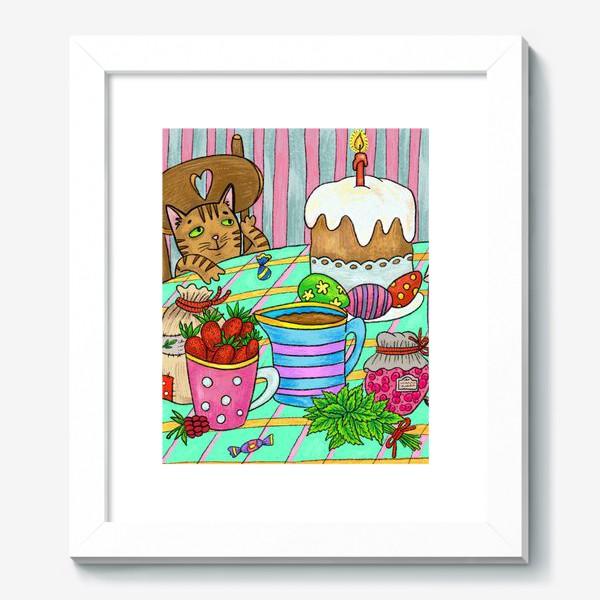 Картина «Пасха. Картина с милым котом»
