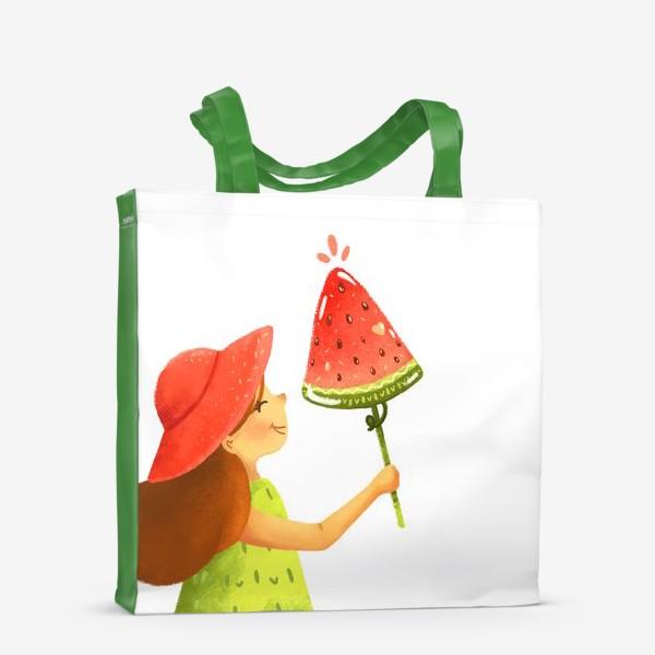 Сумка-шоппер «Девочка с арбузным мороженым »