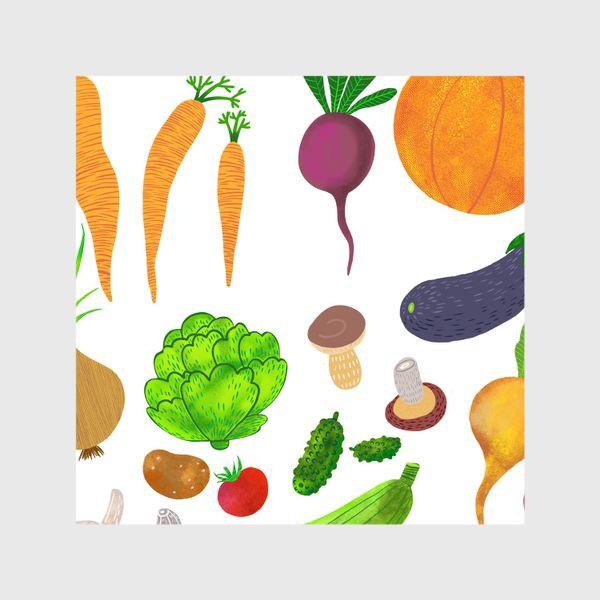 Шторы «Овощи на белом фоне»