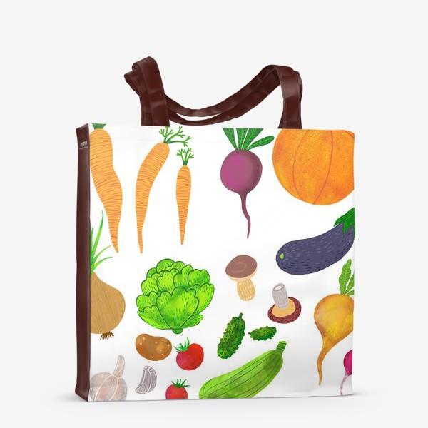 Сумка-шоппер «Овощи на белом фоне»