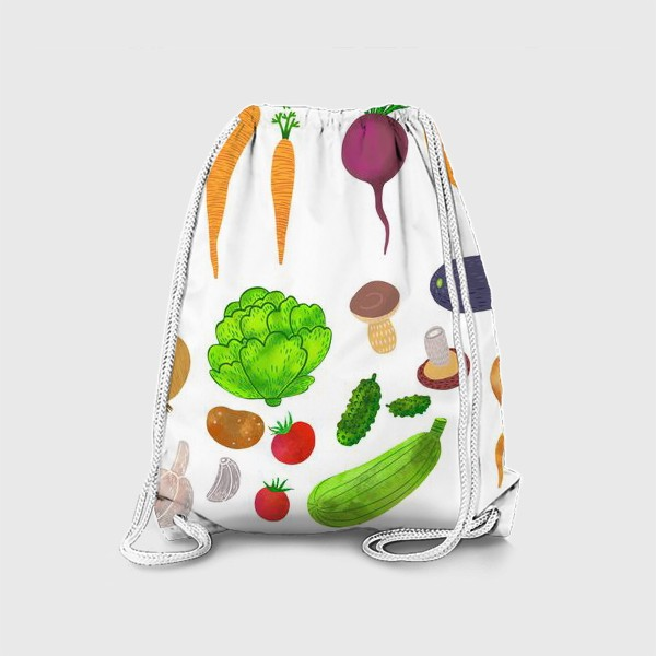 Рюкзак «Овощи на белом фоне»