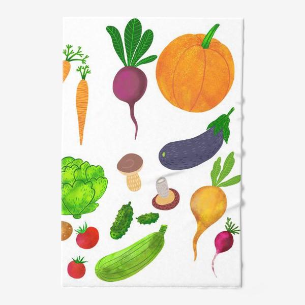 Полотенце «Овощи на белом фоне»