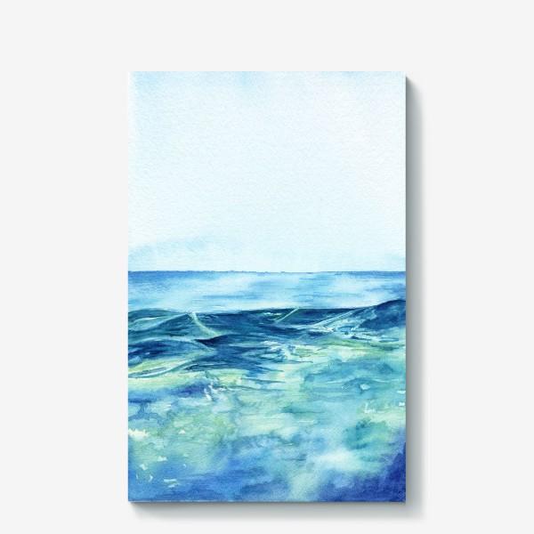 Холст «Акварельное море»