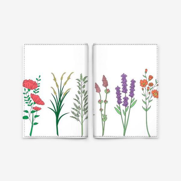 Обложка для паспорта «Дикие травы и цветы»
