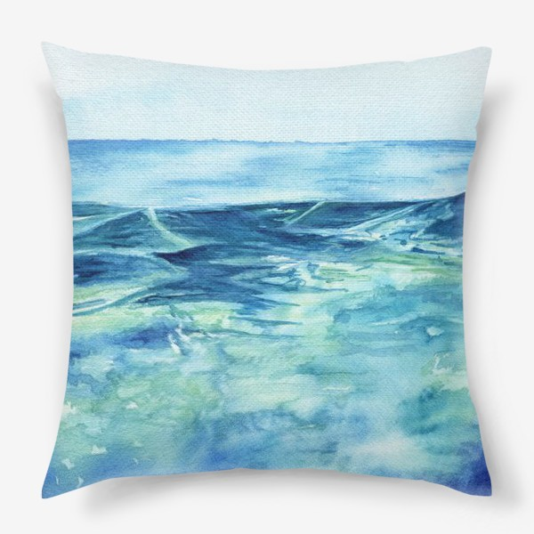Подушка «Акварельное море»