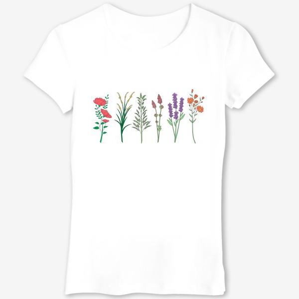Футболка «Дикие травы и цветы»