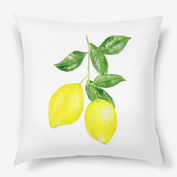 Подушка «Ветка лимонов »