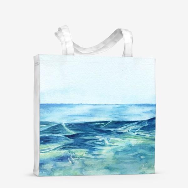 Сумка-шоппер «Акварельное море»