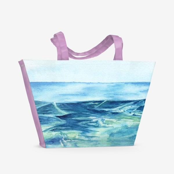 Пляжная сумка «Акварельное море»