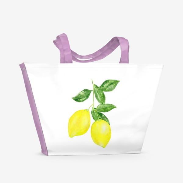 Пляжная сумка «Ветка лимонов »