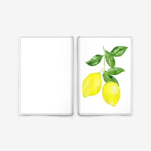 Обложка для паспорта «Ветка лимонов »