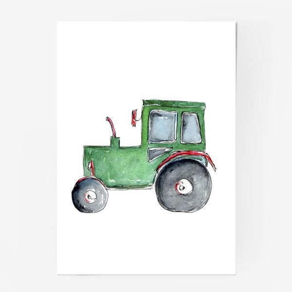 Постер «Трактор. Для настоящих успехов.»