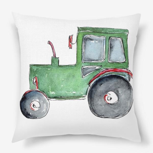 Подушка «Трактор. Для настоящих успехов.»