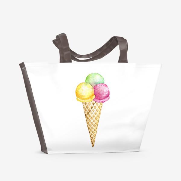 Пляжная сумка «Мороженое»