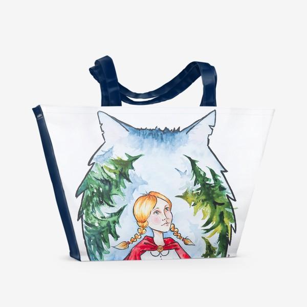Пляжная сумка «Иллюстрация Красная Шапочка. Сказка»