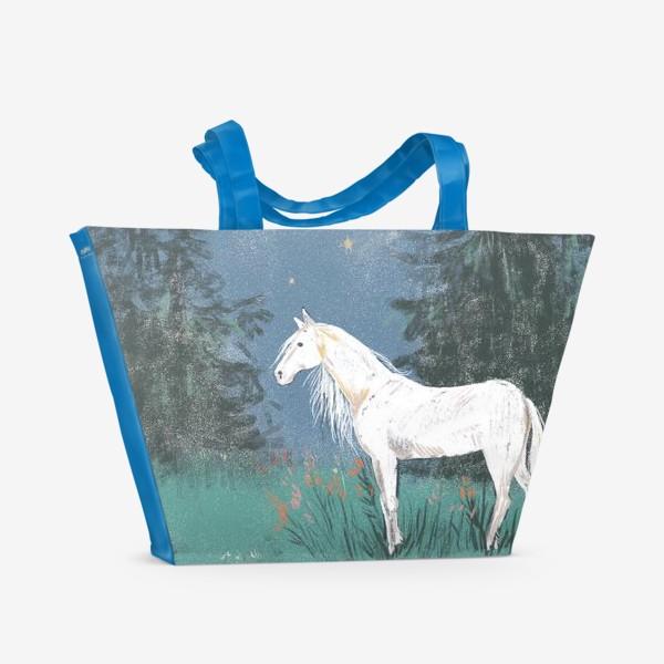 Пляжная сумка «Белая лошадь»