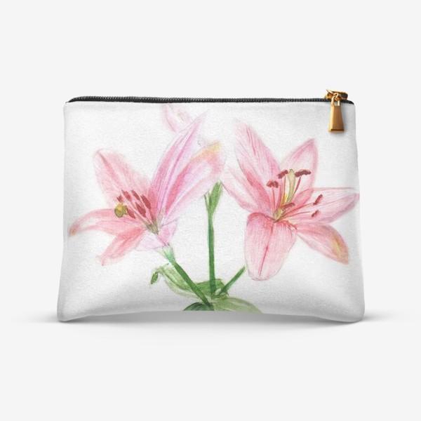 Косметичка «Розовые лилии»