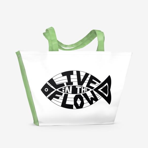 Пляжная сумка «Live in the Flow»