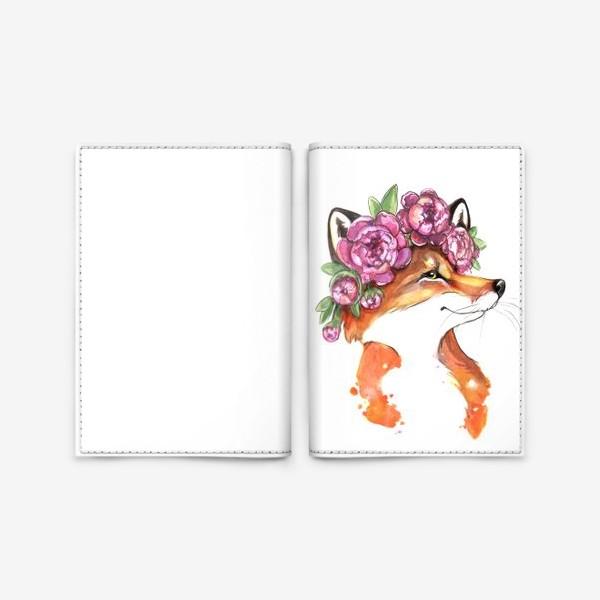 Обложка для паспорта «хитрый лисий взгляд»